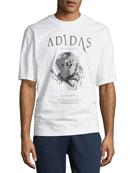 Adidas Men's Originals Worldwide Logo Graphic T-Shirt