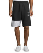 Adidas Men's Colorblock Logo-Detail Knit Shorts