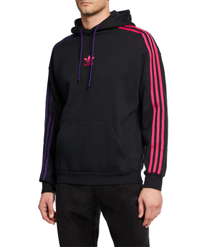 Men's Side-Stripe Pullover Hoodie