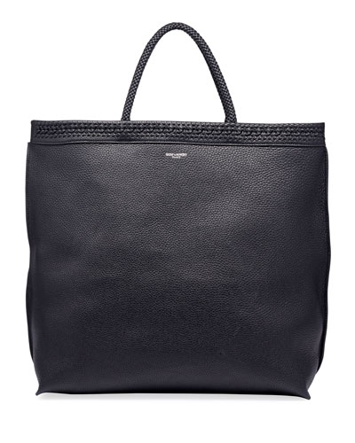 Men's YSL Leather Tote Bag