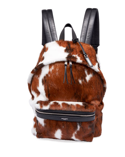 Men's City Calf Hair Backpack