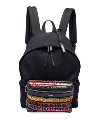 Men's City Cotton Bead-Pocket Backpack