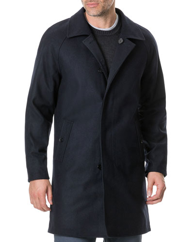 Men's Templars Island Wool Top Coat