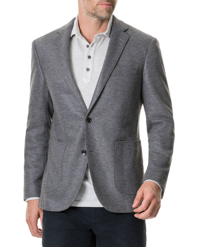 Men's Brooklyn Two-Button Knit Blazer Jacket