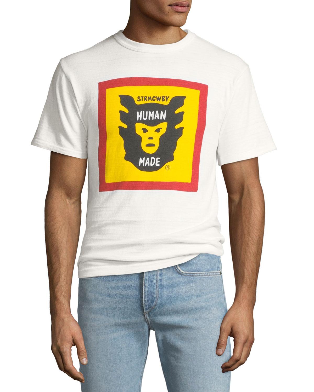 HUMAN MADE Men'S Logo Graphic T-Shirt in White