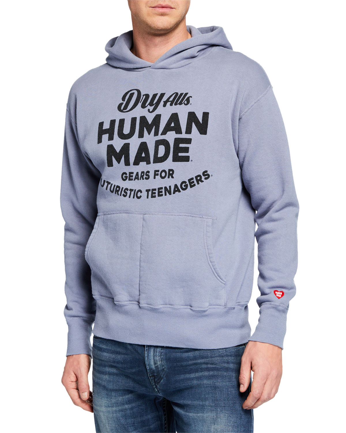 HUMAN MADE Men'S Graphic Print Hoodie in Blue