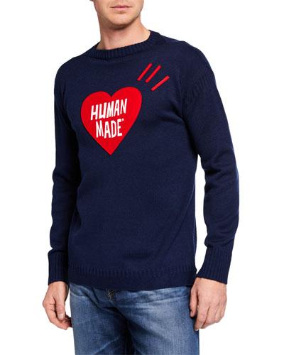 Men's Heart Knit Sweater