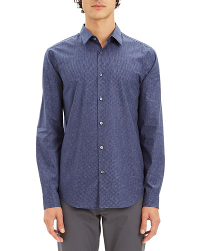 Men's Irving Dot-Print Sport Shirt
