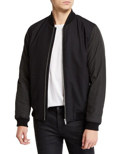 Men's Brenton Gearheart Two-Tone Bomber Jacket
