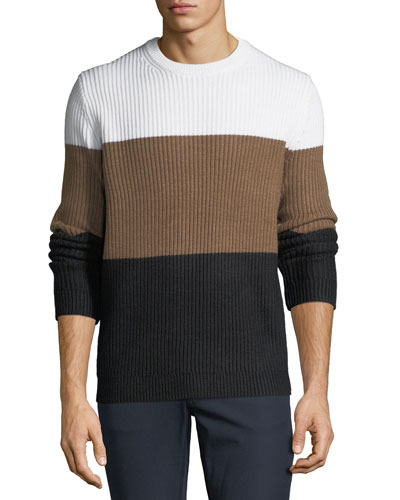 Men's Colorblock Wool Sweater
