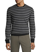 ATM Anthony Thomas Melillo Men's Striped Wool Crewneck