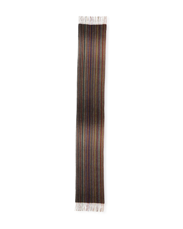 PAUL SMITH Men'S Multi-Stripe Cashmere Scarf