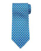 Salvatore Ferragamo George Frog Prince Silk Tie, Blue