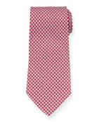 Salvatore Ferragamo Girella Diamond Silk Tie, Red