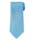 Salvatore Ferragamo Gemello Dogs Silk Tie
