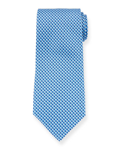 Gift Two-Tone Hearts Silk Tie, Blue