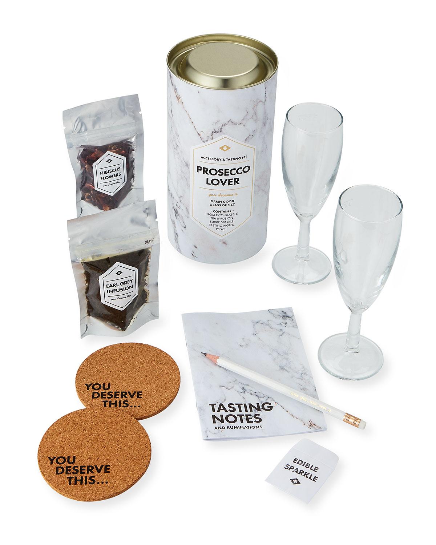 MEN'S SOCIETY Prosecco Lover'S Accessory & Tasting Gift Set in Multi