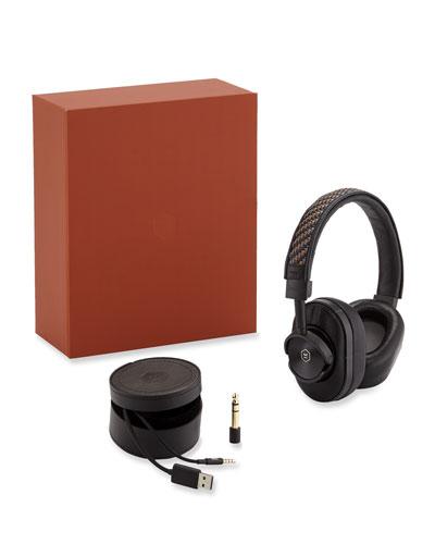 x Master & Dynamic Wireless Over-Ear Headphones w/ Pelle Tessuta Trim