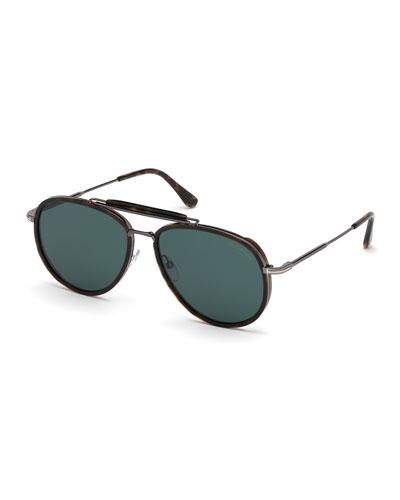 31f191340b Quick Look. TOM FORD · Men s Tripp Havana Aviator Sunglasses