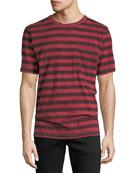 Hudson Men's Striped Pocket T-Shirt
