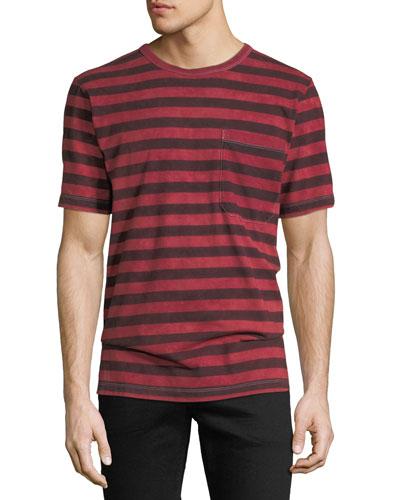 Men's Striped Pocket T-Shirt