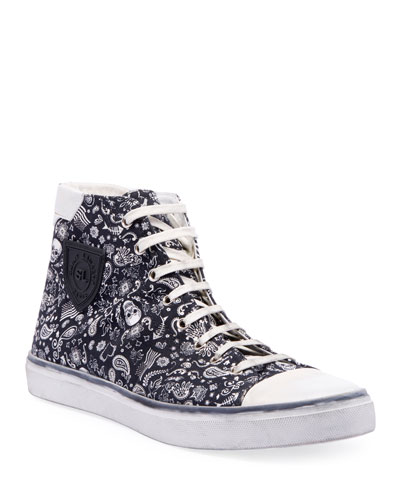 Men's Bedford Graphic Canvas High-Top Sneakers