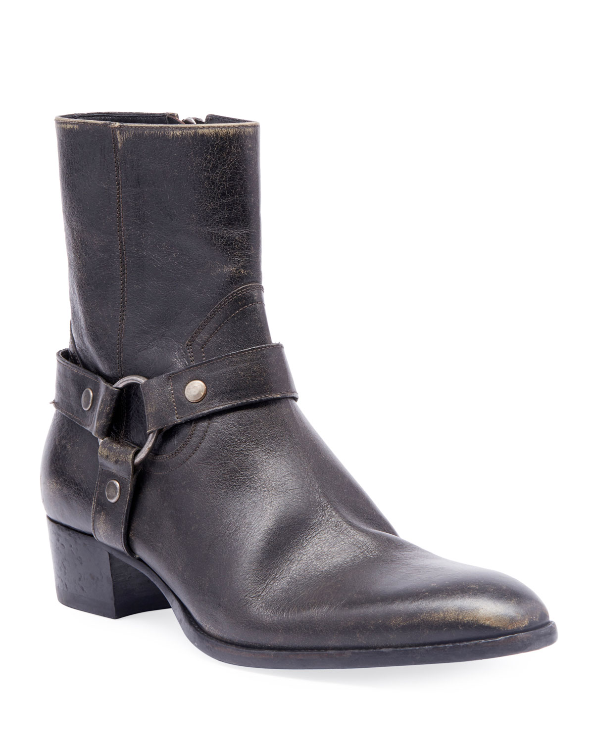 Men's Wyatt Leather Harness Boots