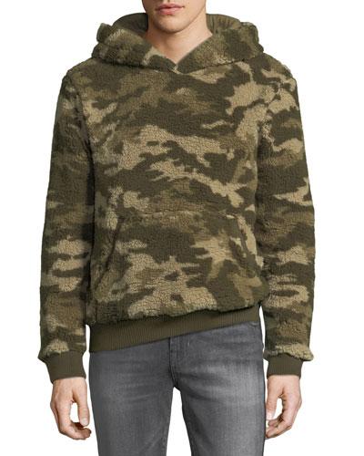 Men's Camo Sherpa Fleece Hoodie