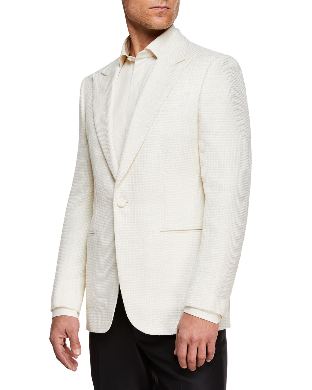 Men's Peak-Lapel Wool Dinner Jacket
