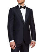 Ermenegildo Zegna Men's Peak-Lapel Wool Two-Piece Tuxedo Suit