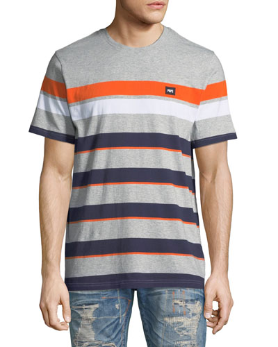 Men's Multicolor Striped T-Shirt