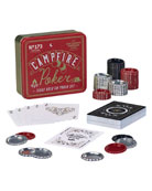 Gentlemen?s Hardware Campfire Texas Poker Travel Game Set