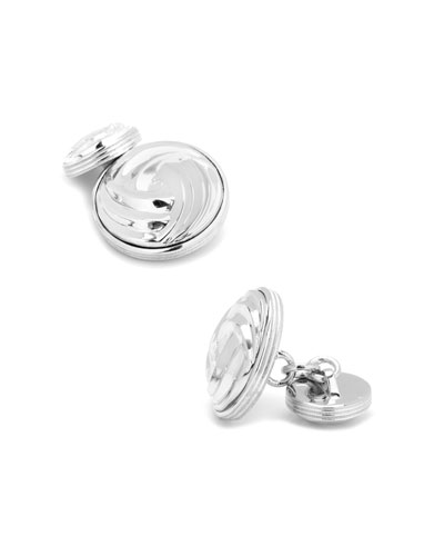 Modern Knot Sterling Silver Cuff Links