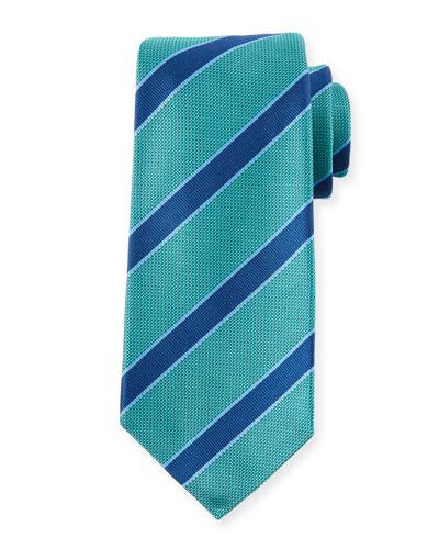 Men's Textured Framed Stripe Tie