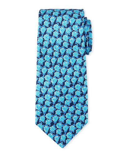 Men's Printed Flower Tie