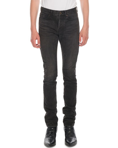 Men's Raw Denim Slim Jeans