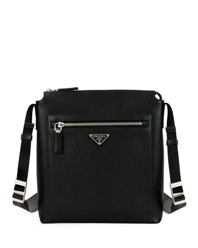 47f53d726ed9 Quick Look. Prada · Men s Saffiano Leather Travel Crossbody Bag