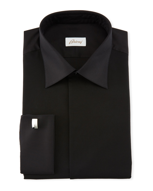 BRIONI Men'S Formal Dress Shirt in Black