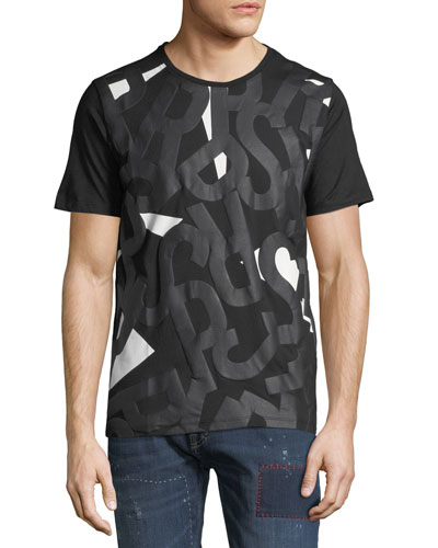 Men's Puffy Logo Graphic Front T-Shirt