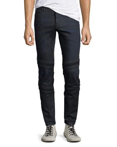 Men's Motac Deconstructed Visual Denim Slim Jeans
