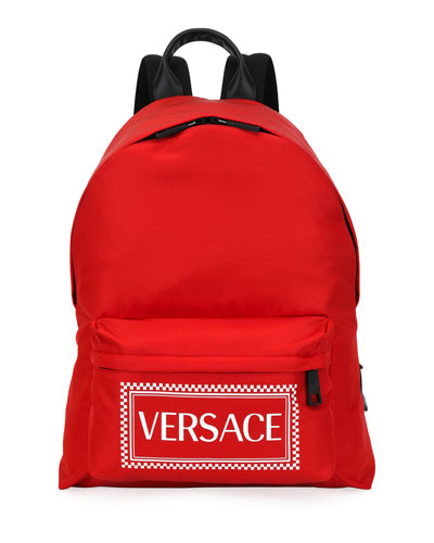 Men's Logo-Stamped Nylon Backpack