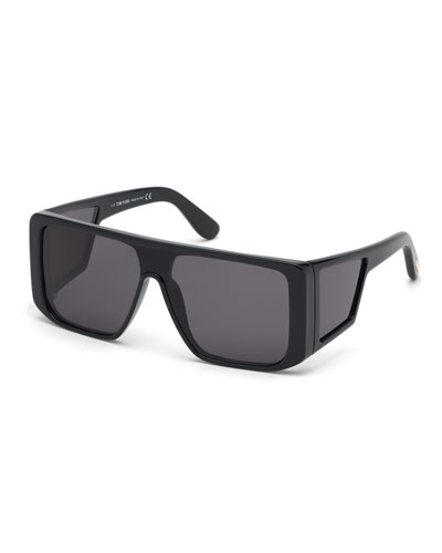 Men's Atticus Wide Plastic Sunglasses