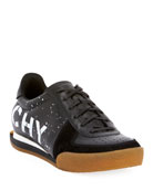 Givenchy Men's Set 3 Logo-Print Leather Tennis Sneakers