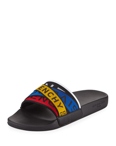 5835d3613725 Quick Look. Givenchy · Men s Logo Band Pool Slide Sandals