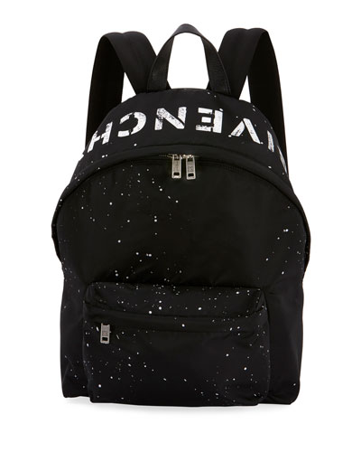 Men's Urban Splatter Nylon Zip-Around Backpack