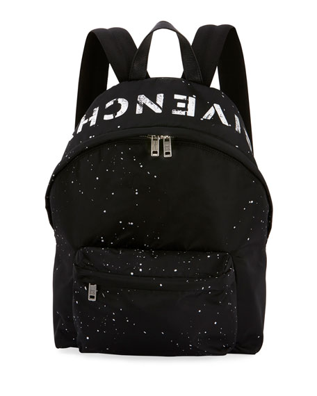 Givenchy Men's Urban Splatter Nylon Zip-Around Backpack