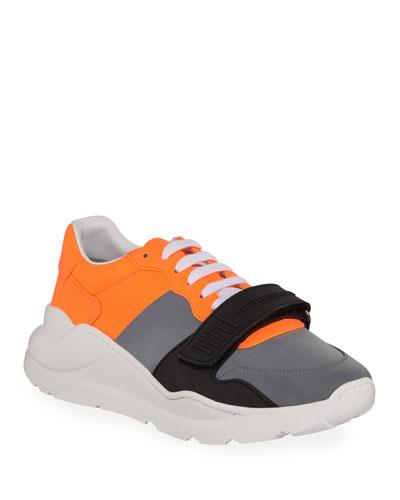 f85f4565 Quick Look. Burberry · Men's Regis Neoprene Low-Top Sneakers ...