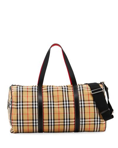 Men's Kennedy Vintage Check Duffel Bag