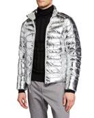Ralph Lauren Men's Metallic Zip-Front Puffer Jacket