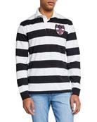 Ralph Lauren Men's Graphic Stripe Rugby Shirt with